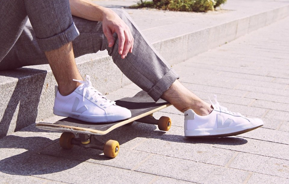 Tony skate chaussures blanche