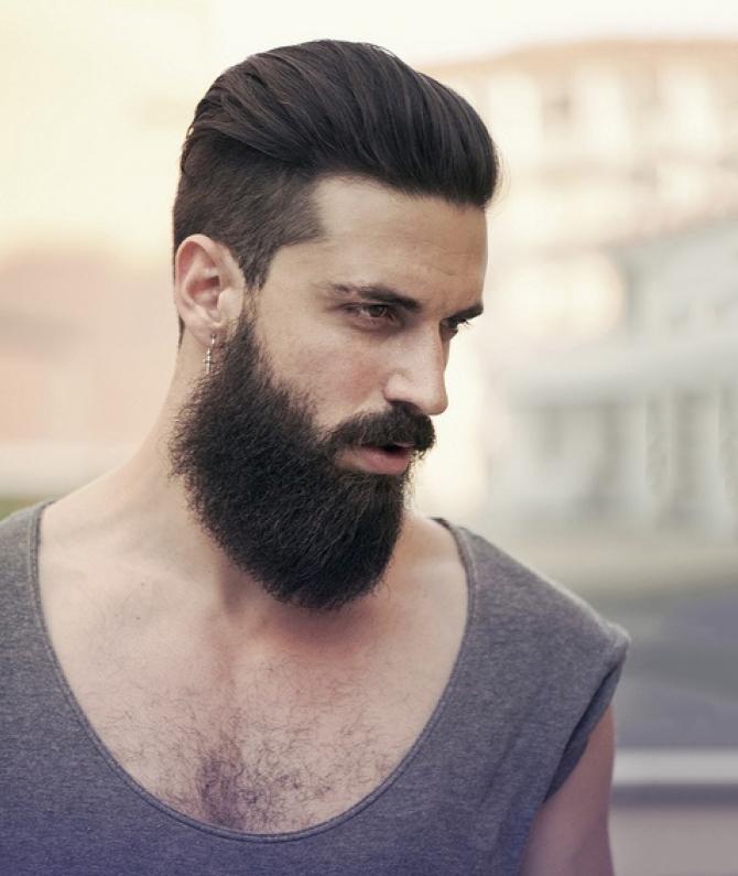 coiffure homme rentrée barbu
