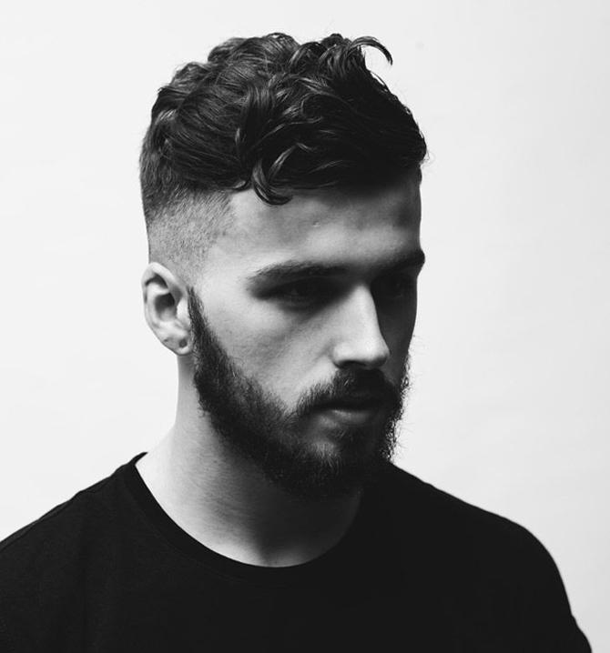 coiffure homme rentrée rasé côté