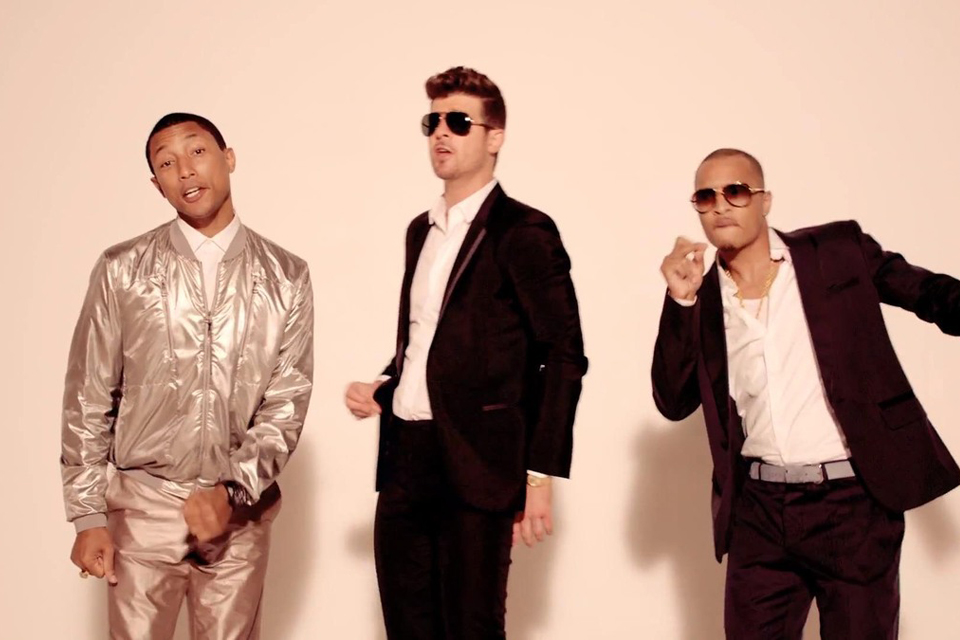 pharrell williams robin thicke blurred lines