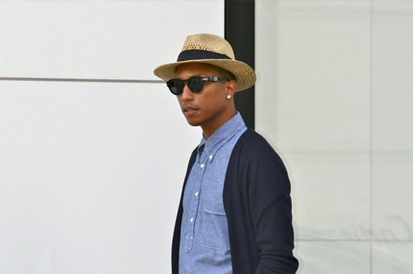 pharrell williams straw hat