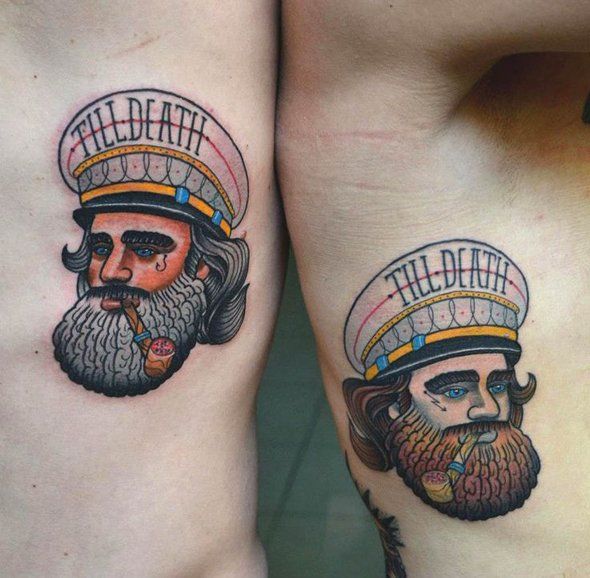 tatouage marin capitaine