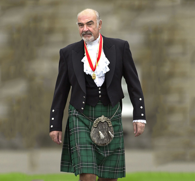 sean connery kilt