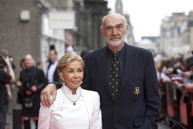 Sir Sean Connery with wife Micheline at opening gala night of th