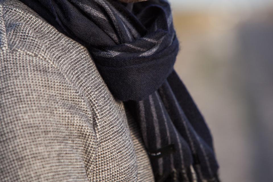 Echarpe cachemire noire