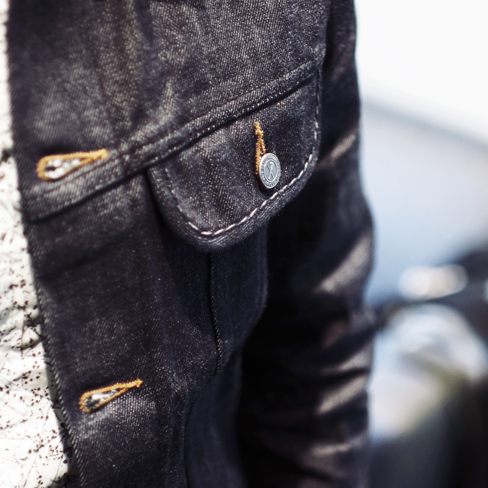 apc raw denim jacekt