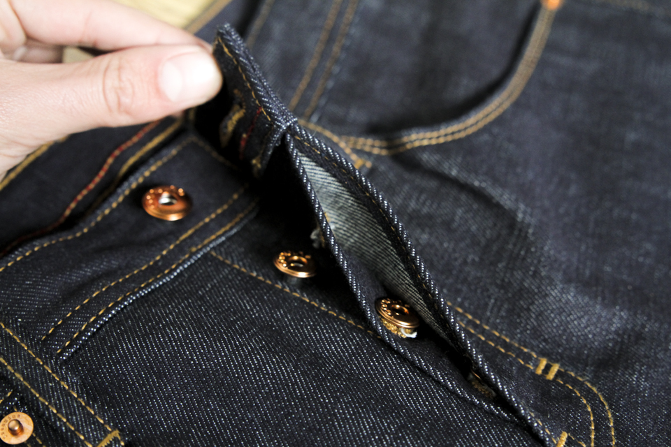 boutonnière jeans jeanuine