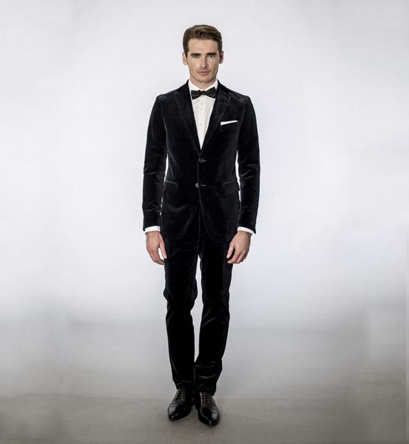 costume dark blue velvet anthony garçon