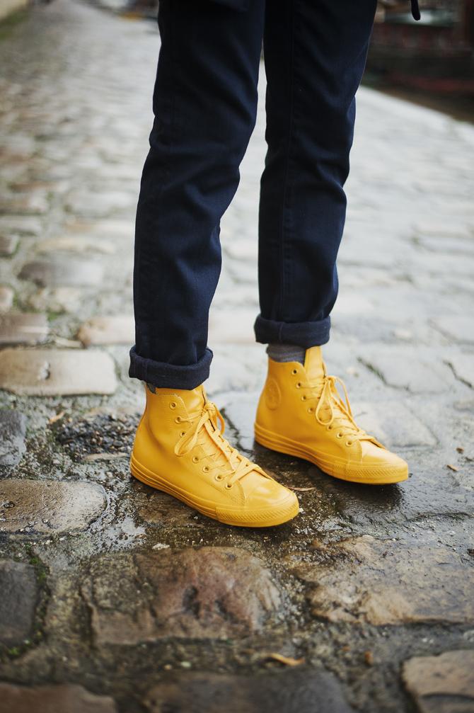 look souvenir breton levis convere rubber chuck jaune