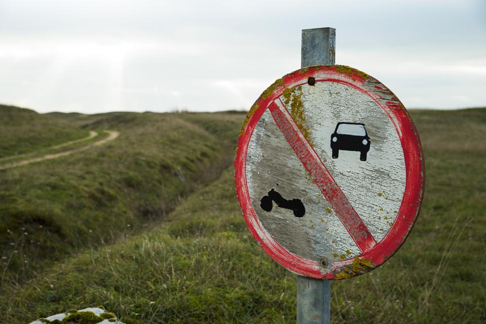 panneau interdiction ancien