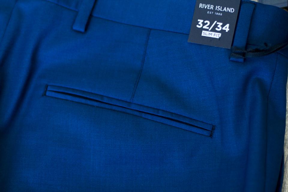 pantalon costume river island poche passepoilee