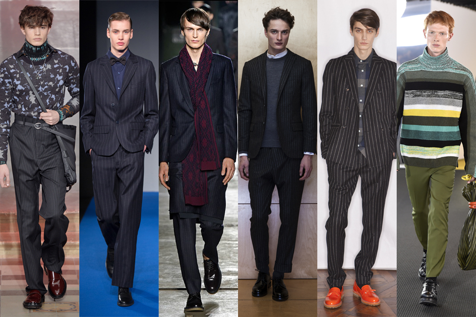 La tendance de la fine rayure men paris fashion week 2015