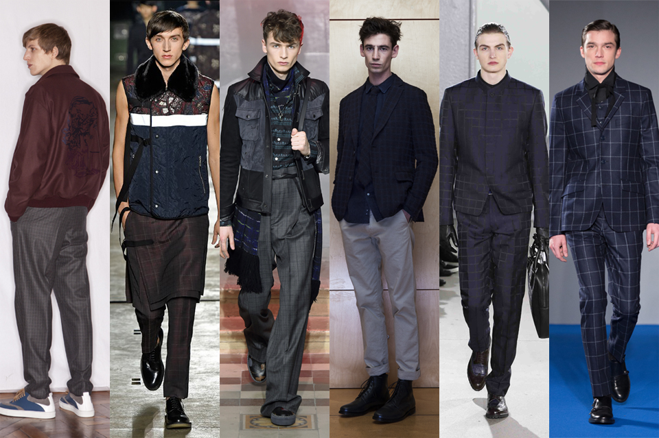 La tendance du carreau discret men paris fashion week 2015