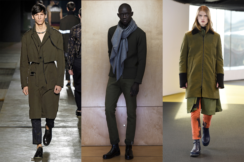 la tendance du kaki militaire men paris fashion week