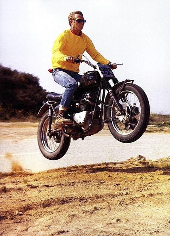 steve mcqueen motard