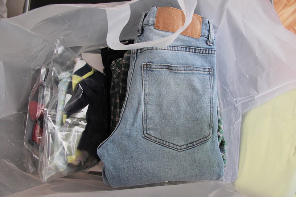 cleanio pressing domicile linge propre plié sac