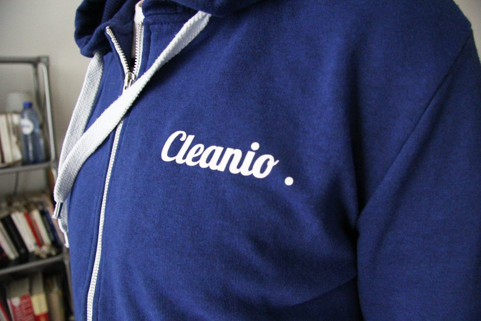 cleanio pressing domicile sweat groom