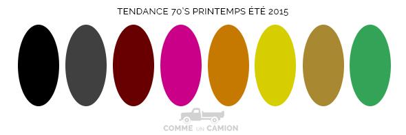 couleurs tendance annes 70 printemps ete 2015