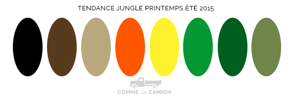 couleurs tendance jungle