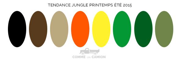 couleurs tendance jungle
