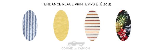 imprimes plage printemps ete 2015
