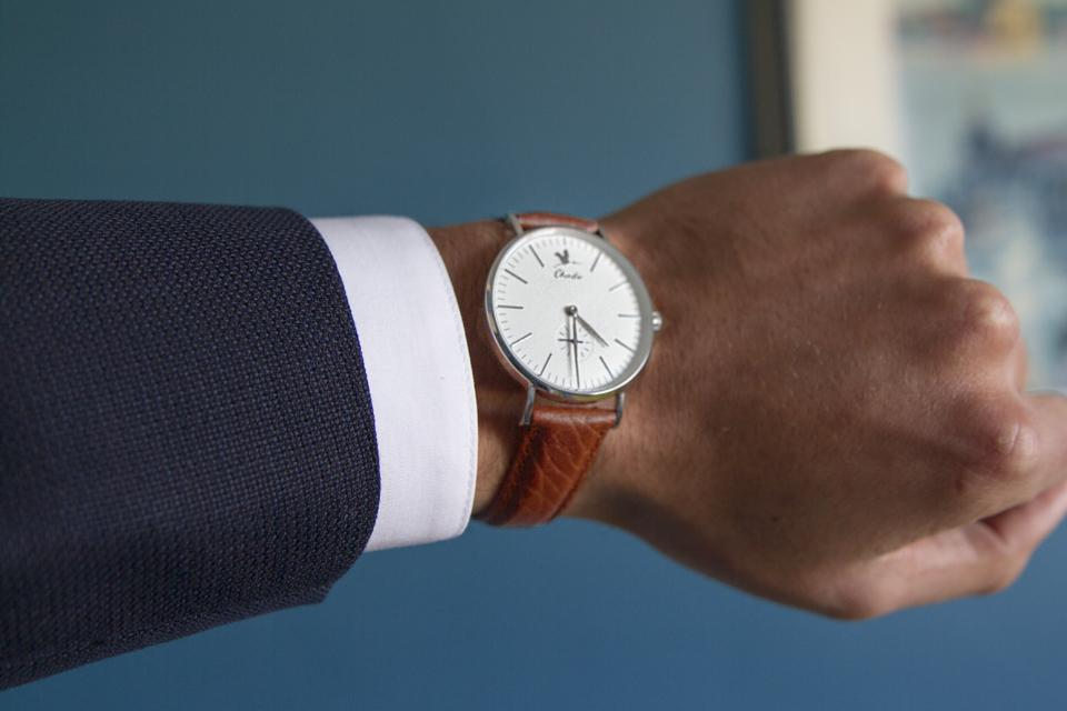 montre charlie watch bracelet marron