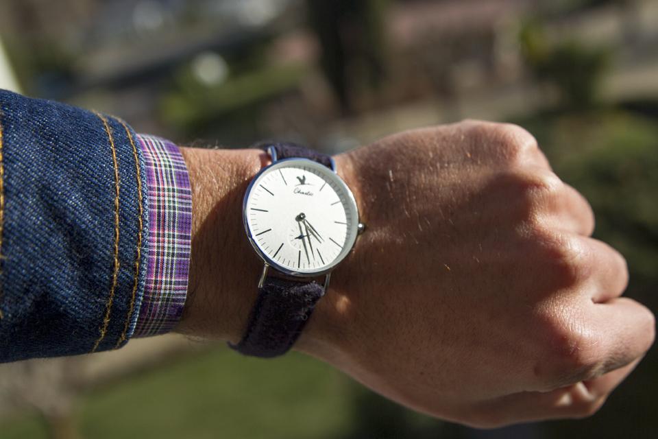 montre charlie watch bracelet tweed