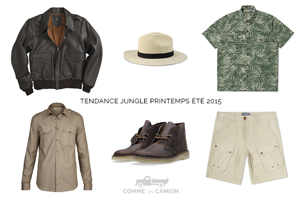 tendances jungle indispensables homme 2015