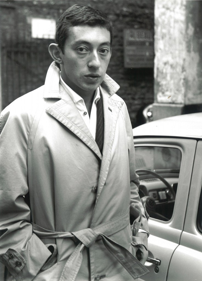 serge gainsbourg icone de mode 1960 imperméable