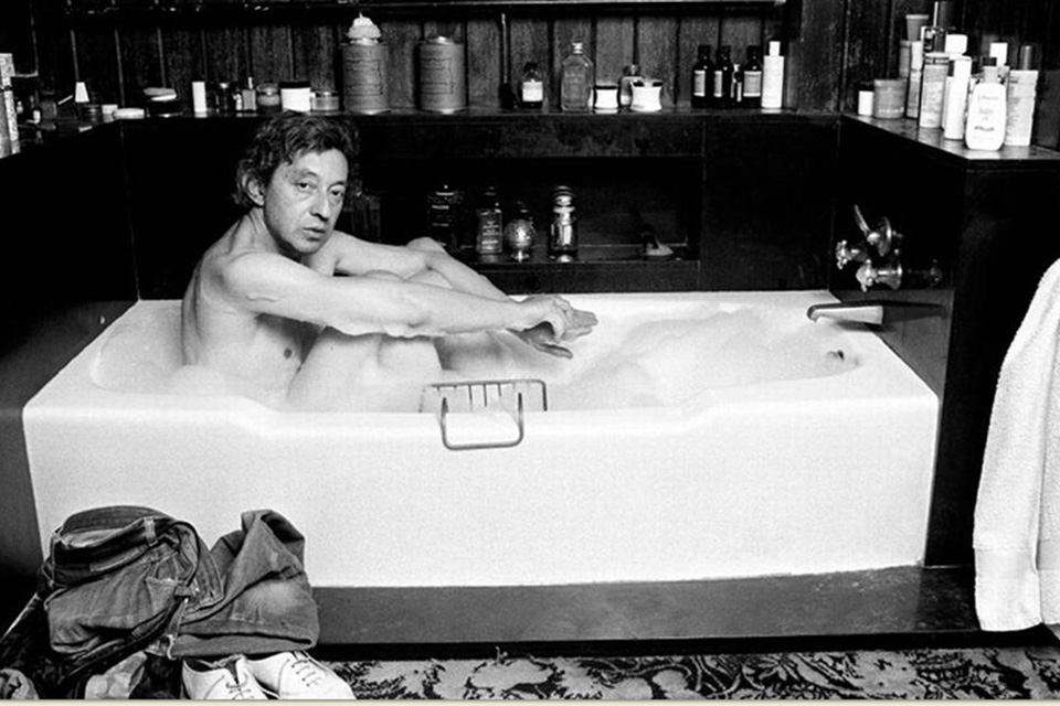 serge gainsbourg icone de mode bain