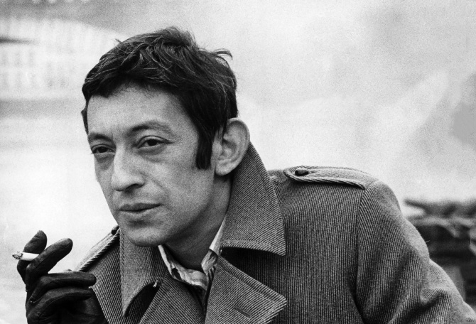 serge gainsbourg icone de mode caban cigarette