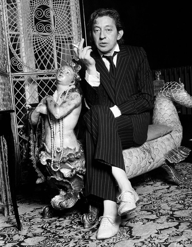 serge gainsbourg icone de mode costume rayures zizi repetto