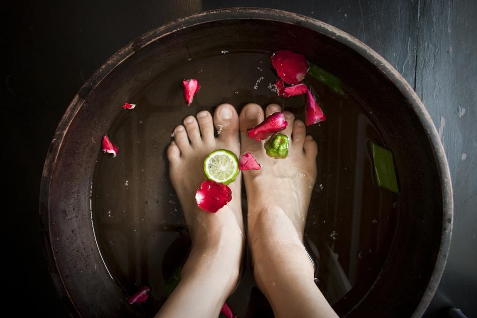 solution transpiration pieds bain de pied