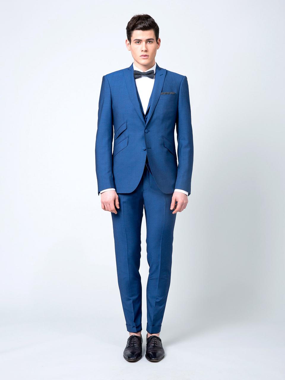 tendances pour le marié costume bleu roi samson noeud papillon 42754b57e14