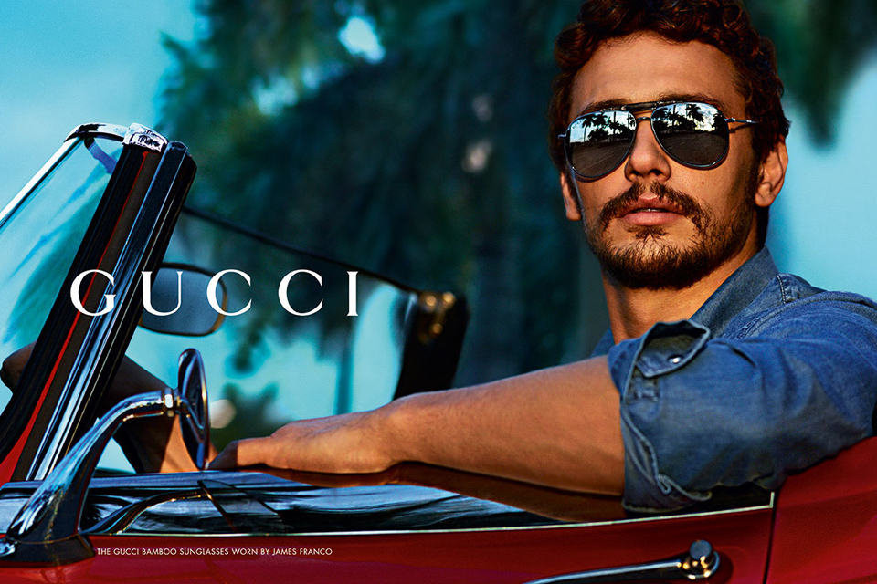 james franco icone de mode style pub gucci