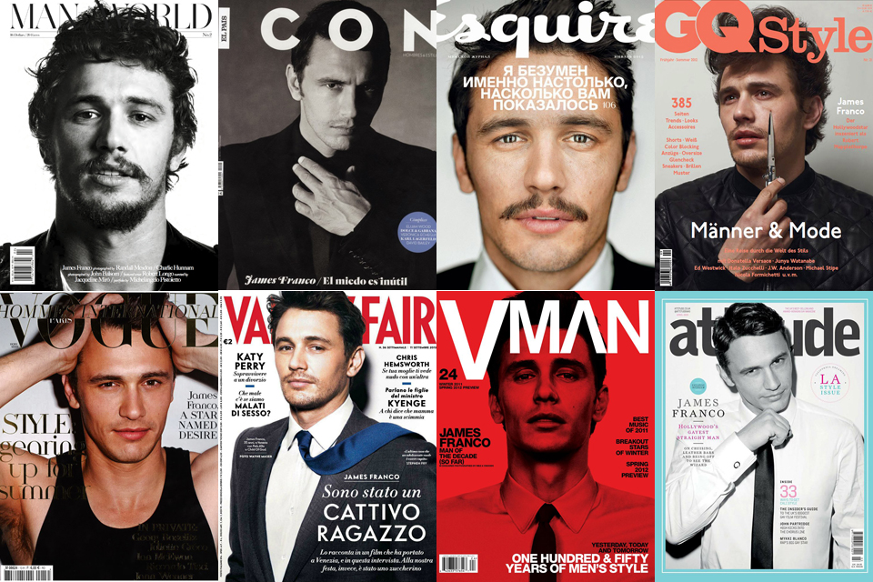 james franco icone de mode style cover magazine model fashion