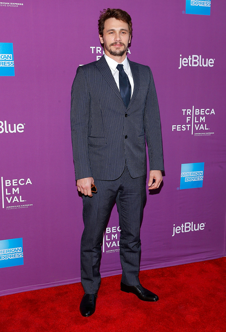 james franco icone de mode style gucci striped suit tribeca festival film