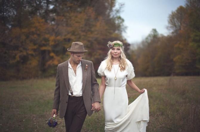 tendance pour le marié mariage kinfolk bohème vintage hippie