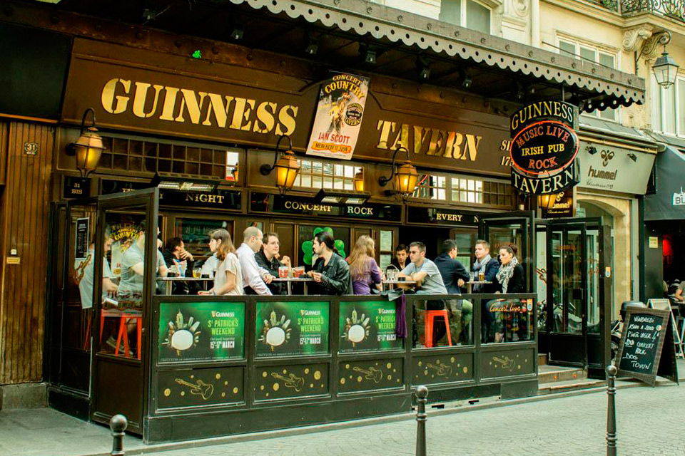 guinness tavern paris chatelet