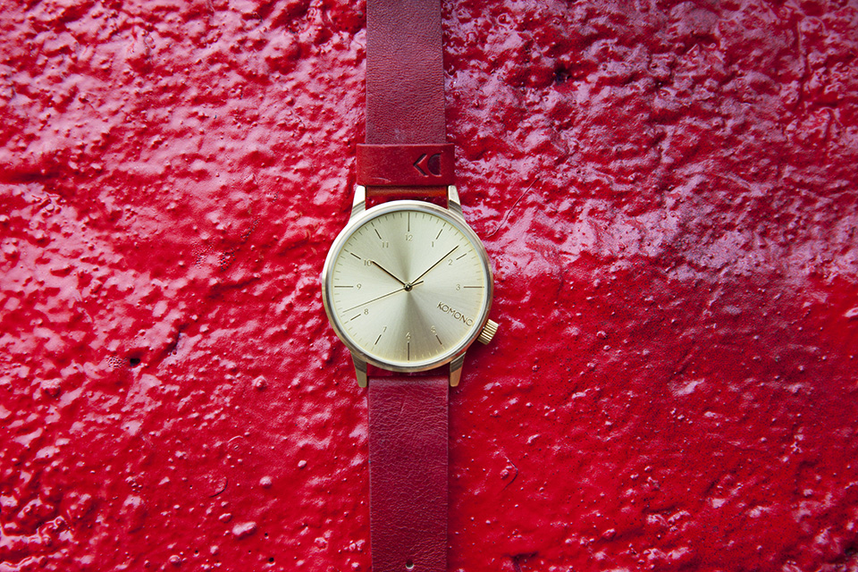 Montre Komono Winston Or Rouge