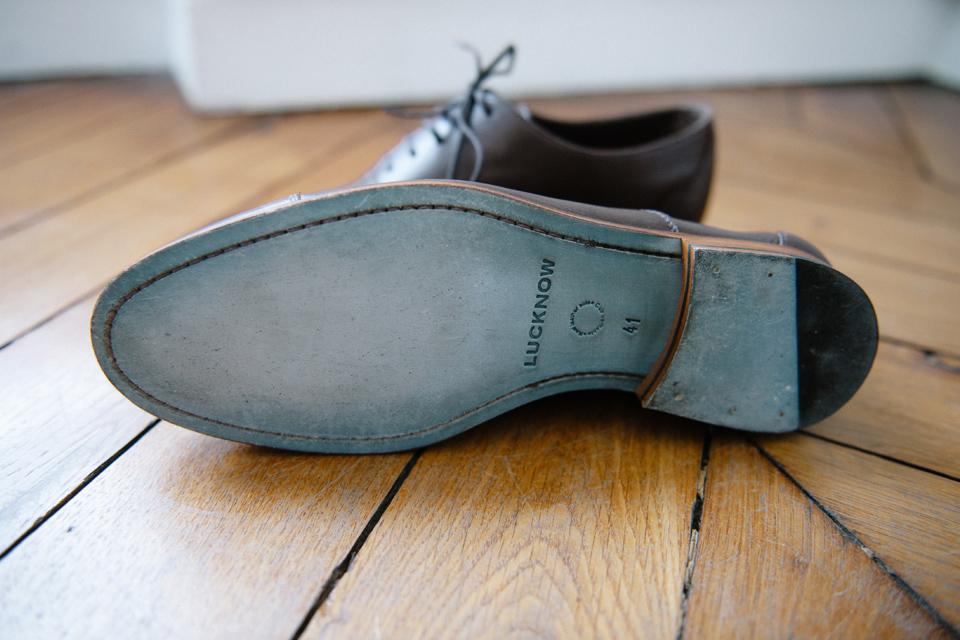 Chaussure Cuir Marron