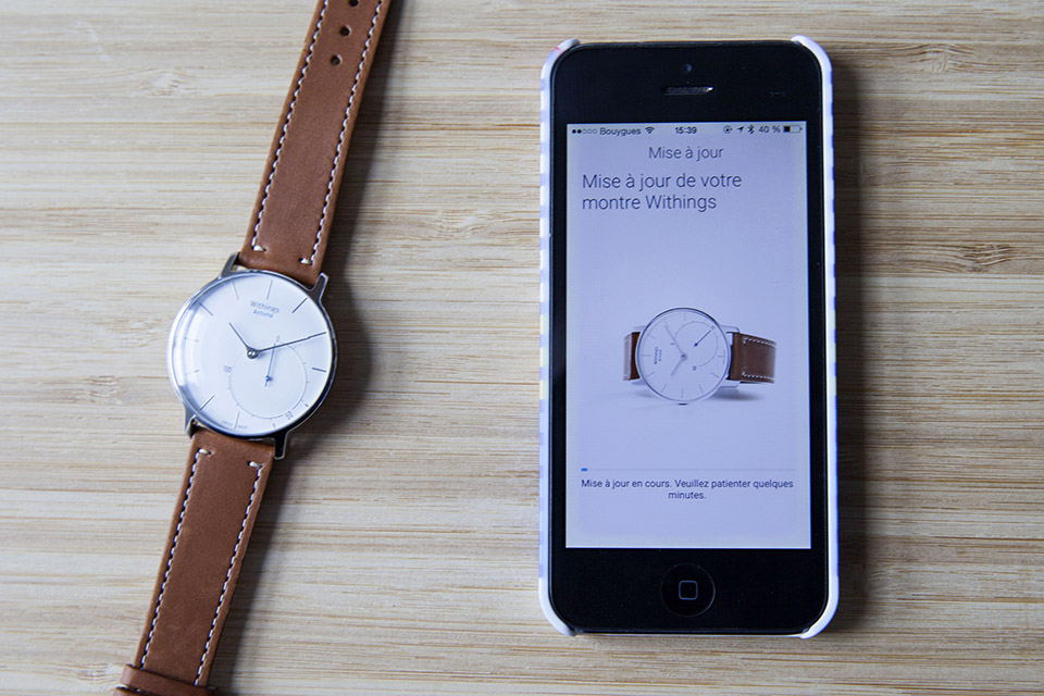 Montre Withings Mise à jour