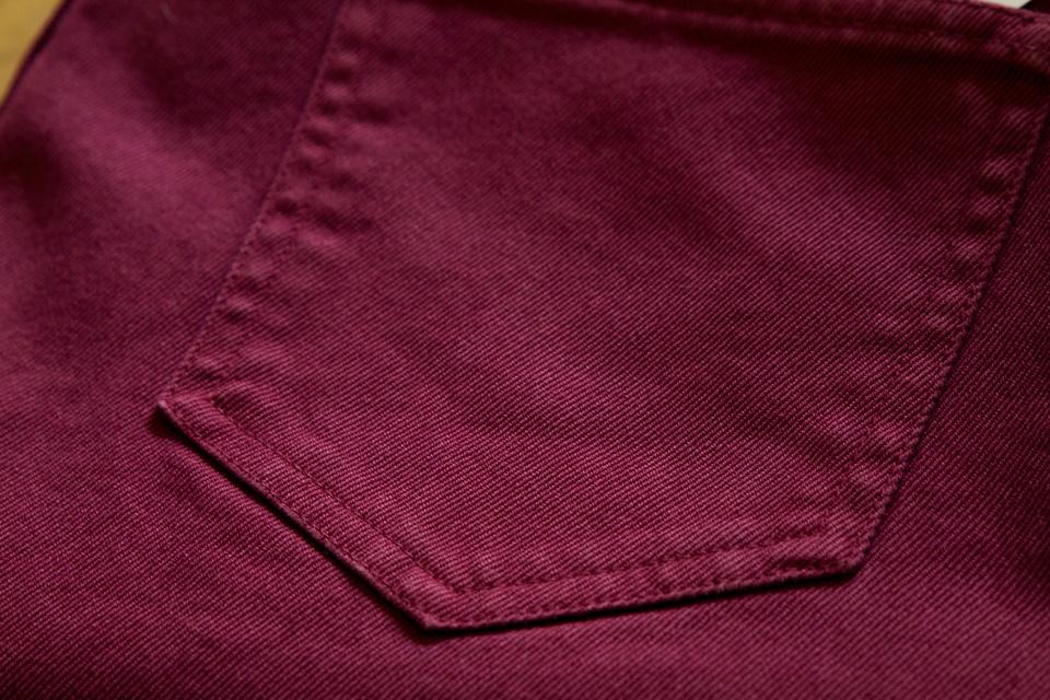 Poches arrières pantalon Hèdus Bordeaux