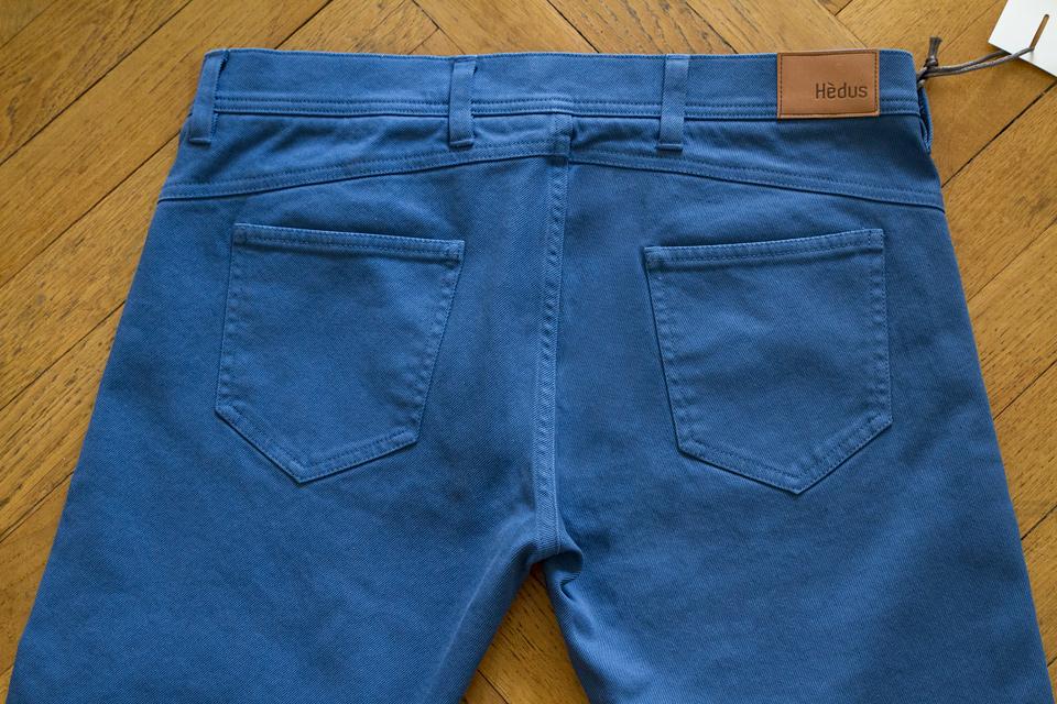 Pantalon 5 poches bleu Hèdus