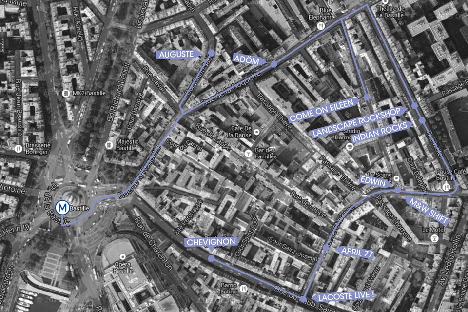 Parcours Bastille Paris