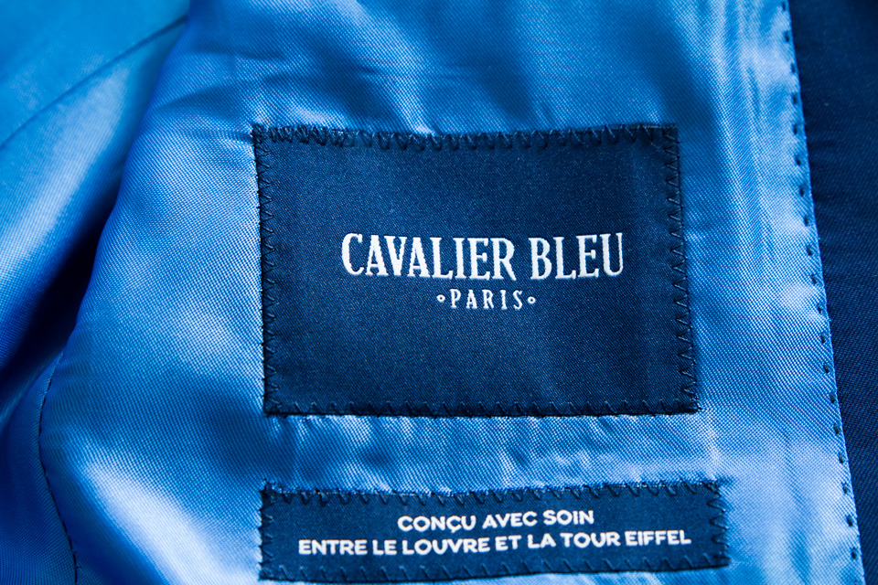 Logo cavalier bleu marque france