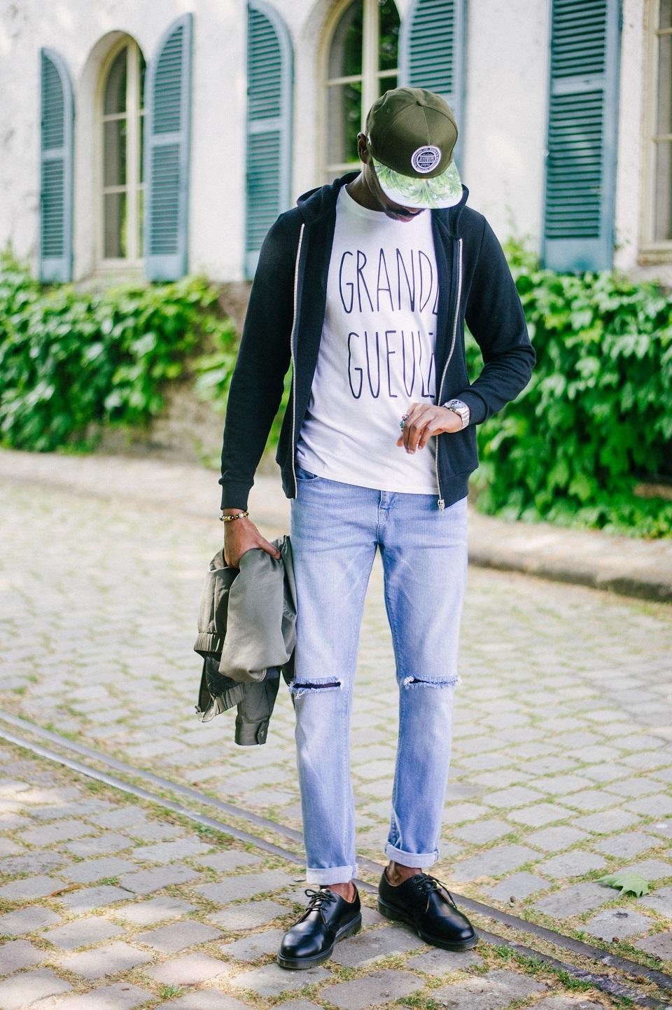 Look homme hoodie jean