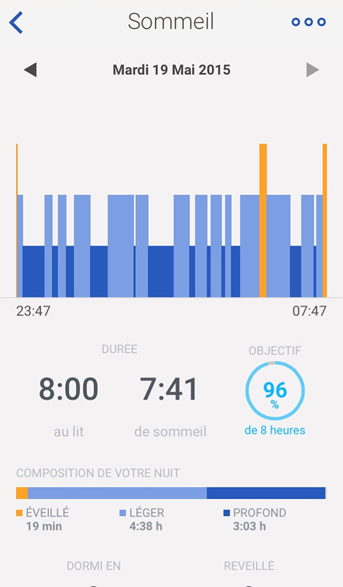 withings sommeil