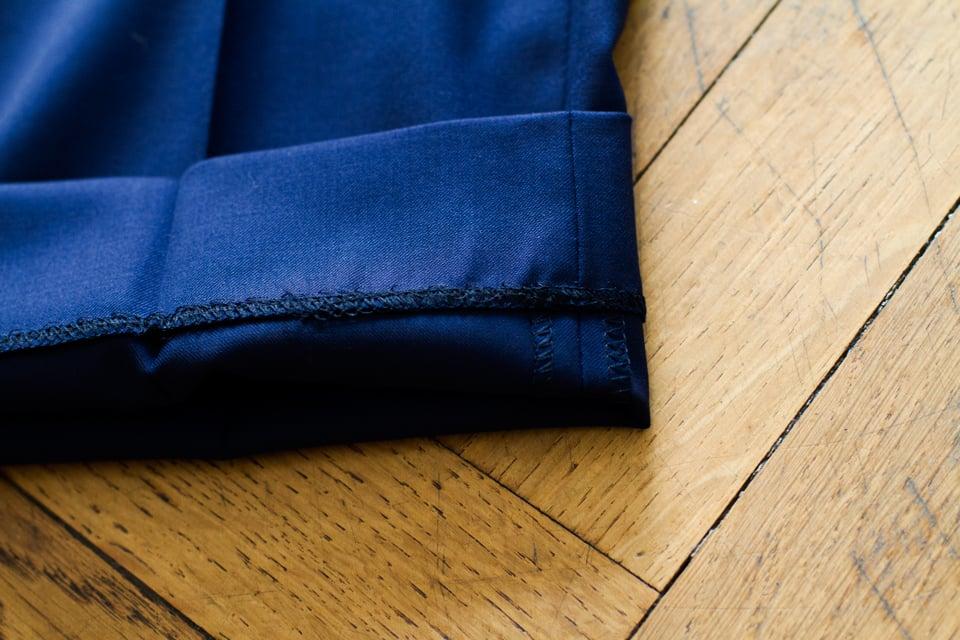 ourlet pantalon point chainette