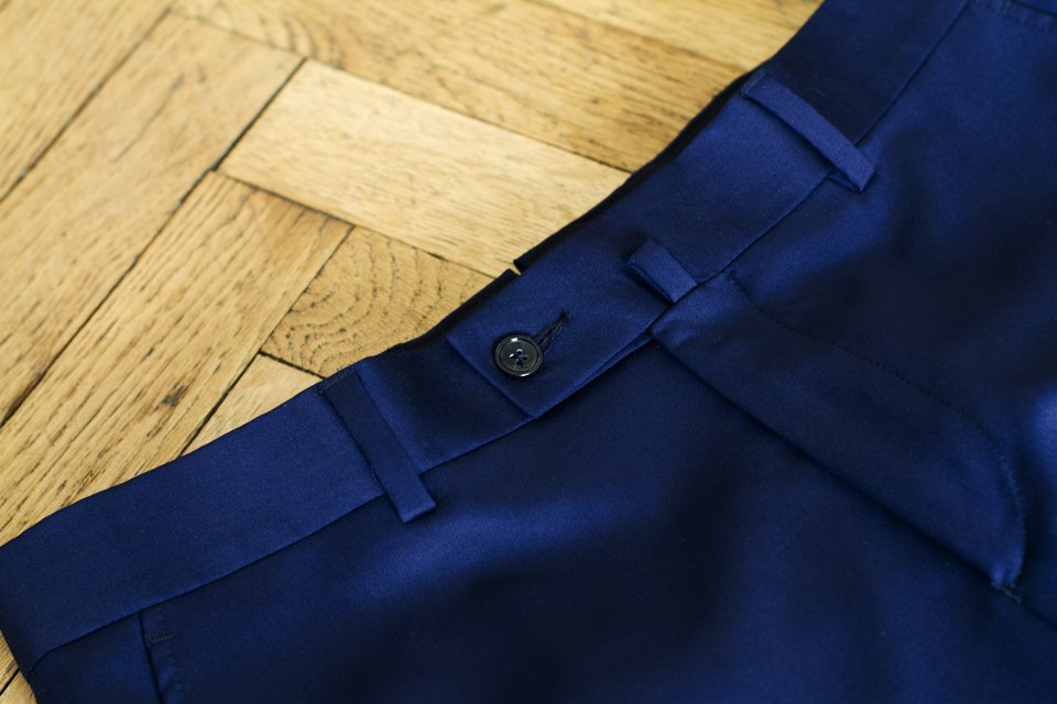 Pantalon Costume Cavalier Bleu